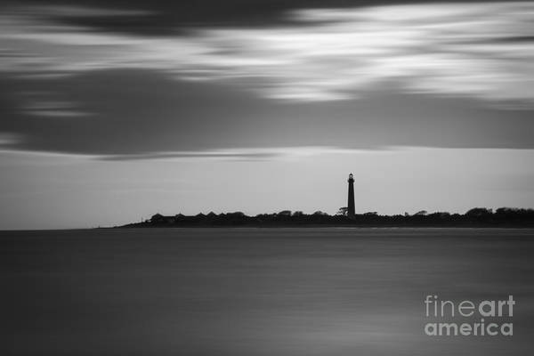 Cape May Lighthouse Photograph - Cape May Lighthouse Long Exposure Bw by Michael Ver Sprill