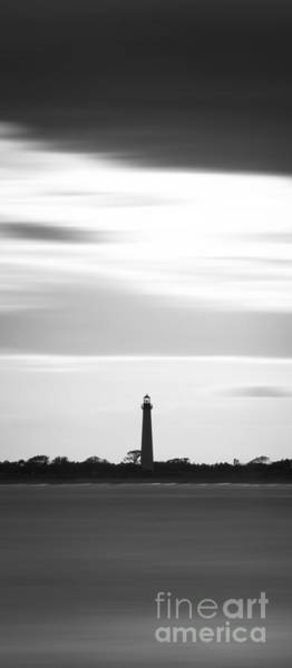 Cape May Lighthouse Photograph - Cape May Lighthouse Narrow Long Exposure Bw by Michael Ver Sprill