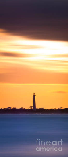 Cape May Wall Art - Photograph - Cape May Lighthouse Narrow Long Exposure  by Michael Ver Sprill