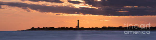 Cape May Lighthouse Photograph - Cape May Lighthouse Sunset Panorama by Michael Ver Sprill