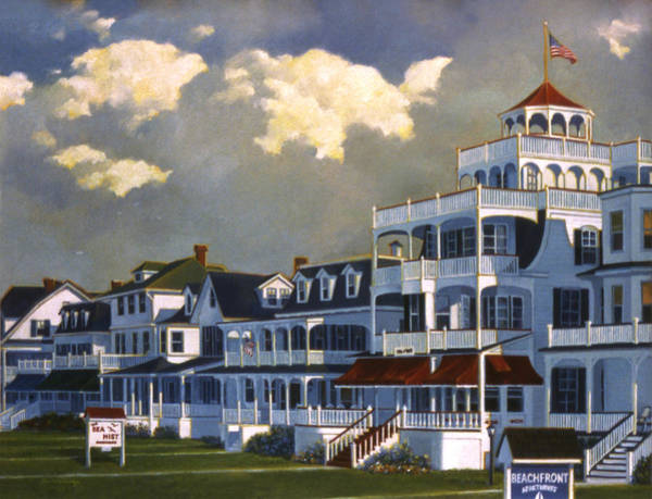 Cape May Painting - Cape May Morning by Tom Wooldridge