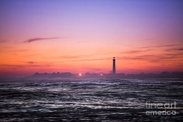 Cape May Lighthouse Photograph - Cape May Sunset by Michael Ver Sprill