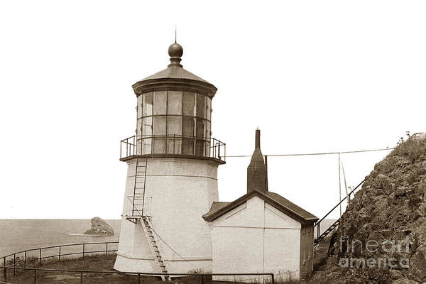 Photograph - Cape Meares Light Oregon State Circa 1915 by California Views Archives Mr Pat Hathaway Archives