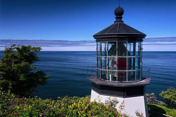 Coast Guard House Photograph - Cape Meares Lighthouse by Joan Carroll