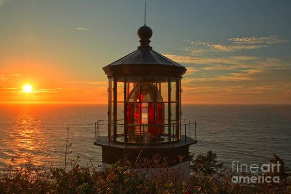Photograph - Cape Meares Sunset Light by Adam Jewell