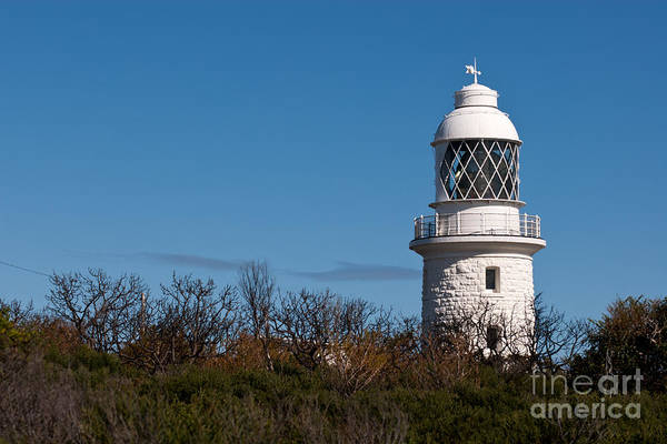 Photograph - Cape Naturaliste Lighthouse Blue Sky 01 by Rick Piper Photography