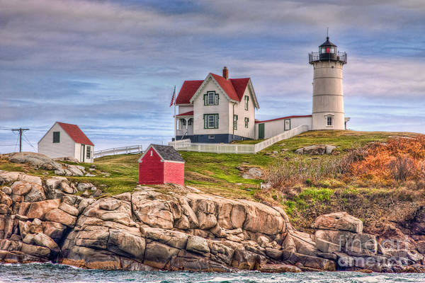 Photograph - Cape Neddick Nubble Lighthouse II by Clarence Holmes