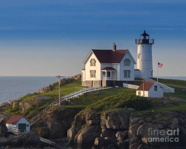2014 Photograph - Cape Neddick Nubble Lighthouse York Maine by Bridget Calip