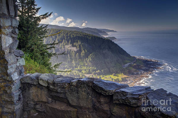 Oregon Coast Photograph - Cape Perpetua Lookout by Mark Kiver