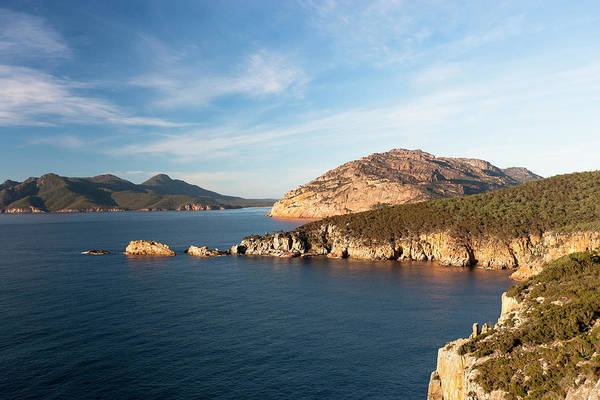 Red Bluff Photograph - Cape Tourville In Freycinet National by Martin Zwick