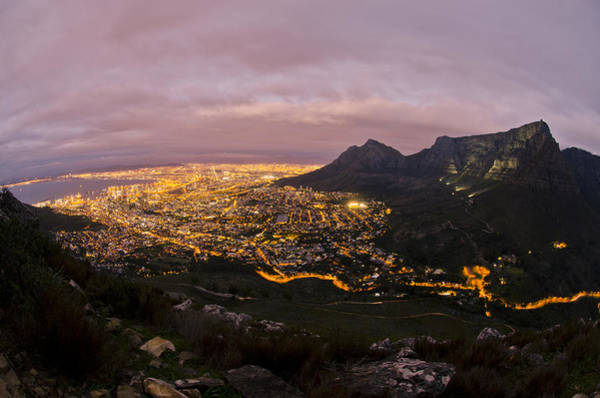 Table Mountain Wall Art - Photograph - Cape Town Nights by Aaron Bedell