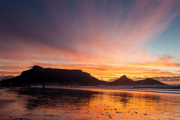 Photograph - Cape Town Sunset Colours by Paul Indigo