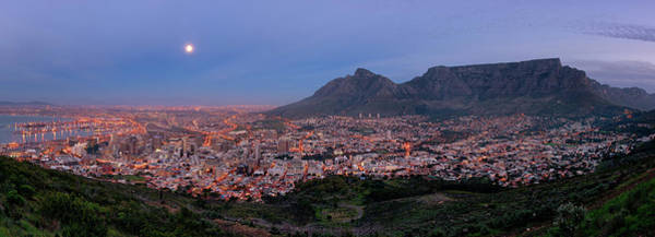 Table Mountain Wall Art - Photograph - Cape Town Supermoon by Paul Bruins Photography