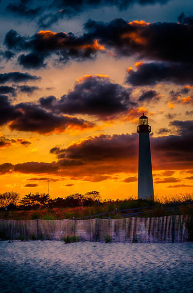 Cape May Lighthouse Photograph - Capes Burning by Scott Wyatt