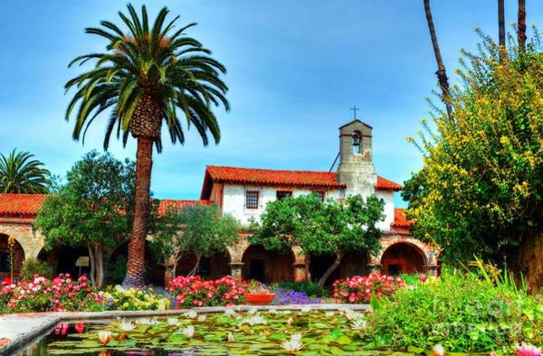 Photograph - Capistrano Courtyard Colors by Mel Steinhauer