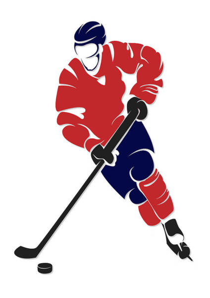 Washington Capitals Photograph - Capitals Shadow Player by Joe Hamilton