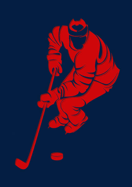 Washington Capitals Photograph - Capitals Shadow Player3 by Joe Hamilton