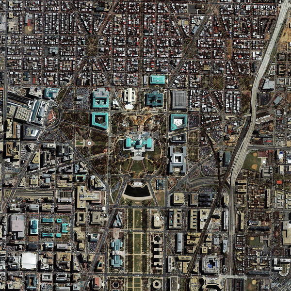 Senate Photograph - Capitol Area by Geoeye/science Photo Library