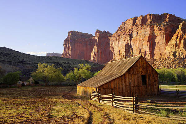 Sandstone Photograph - Capitol Barn by Chad Dutson