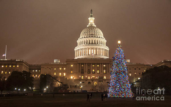 Photograph - Capitol Christmas by Terry Rowe