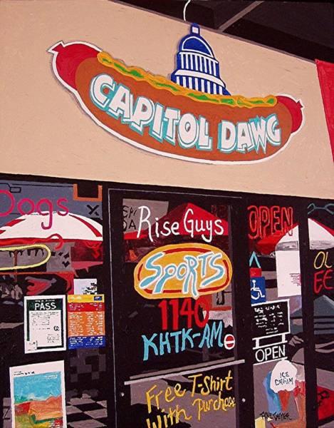 Capitol Dawg Art Print by Paul Guyer