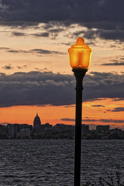 Photograph - Capitol - Madison And Lamp by Steven Ralser