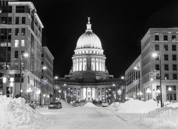 Photograph - Capitol Madison Wisconsin by Steven Ralser