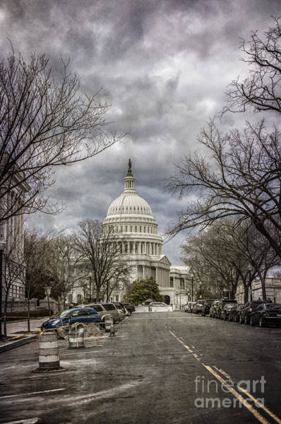 Photograph - Capitol On A Blustery Day by Terry Rowe