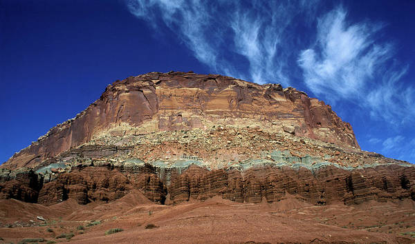 Red Bluff Photograph - Capitol Reef National Park, Utah by Peter Dennen