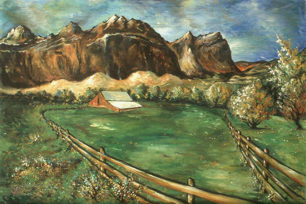 Painting - Capitol Reef Utah - Landscape Art Painting by Peter Potter
