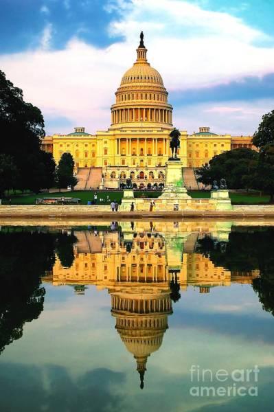 Photograph - Capitol Reflection by Nick Zelinsky