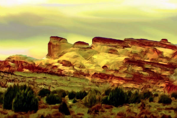 Painting - Capitol Reef National Park At Sunset by Bob and Nadine Johnston