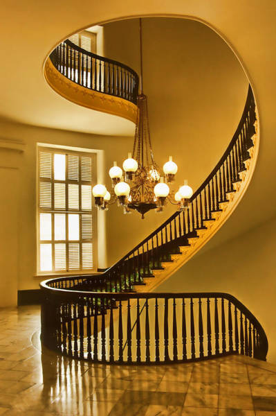 Greek Revival Architecture Photograph - 2 - Capitol Staircase - Montgomery Alabama by Nikolyn McDonald