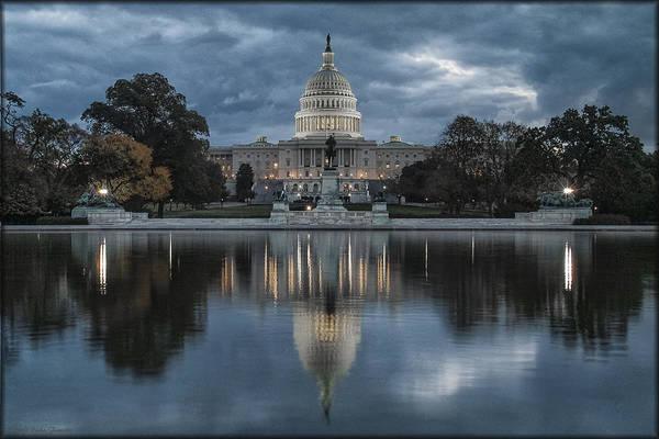 Photograph - Capitol Storm by Erika Fawcett