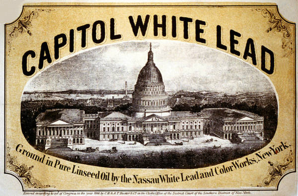 Capitol Digital Art - Capitol White Lead by Studio Art