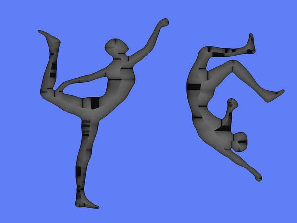 Capoeira Digital Art - Capoeira 1 by Jack Bowman