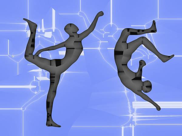 Capoeira Digital Art - Capoeira 2 by Jack Bowman
