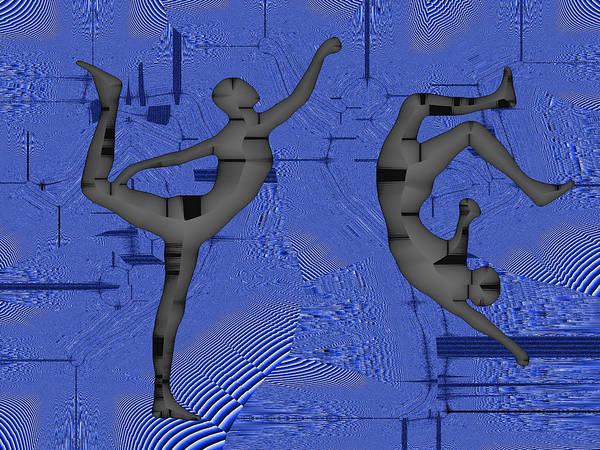 Capoeira Digital Art - Capoeira 4 by Jack Bowman