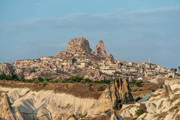 Cappadocia Photograph - Cappadocia View Of Uchisar Peak by Izzet Keribar