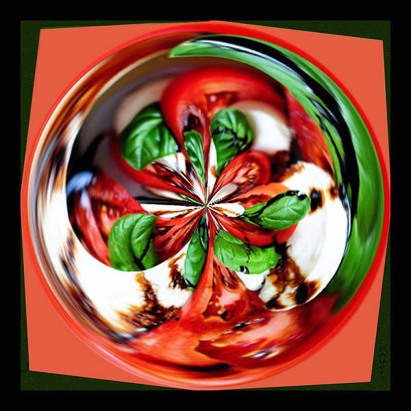 Wall Art - Photograph - Caprese Salad Orb by Paula Ayers