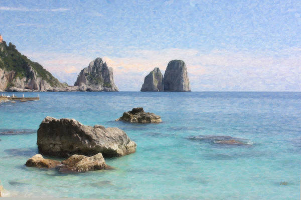 Painting - Capri Sea Itl3878 by Dean Wittle