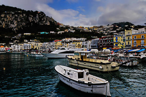 Photograph - Capri The Harbour by Enrico Pelos