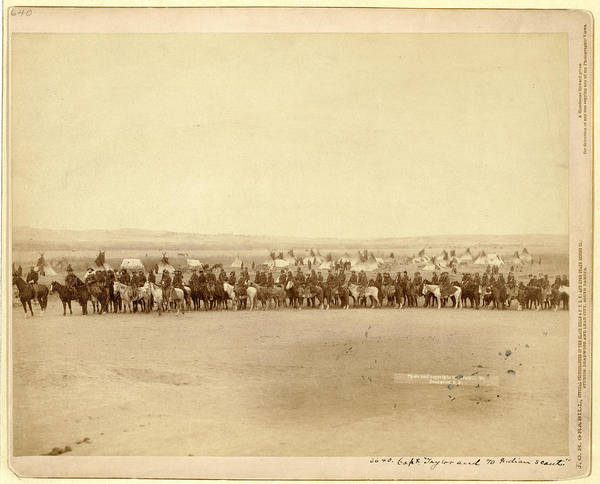 Wall Art - Photograph - Capt. Taylor And 70 Indian Scouts by Litz Collection
