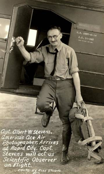 Army Air Corps Photograph - Captain Albert Stevens by American Philosophical Society