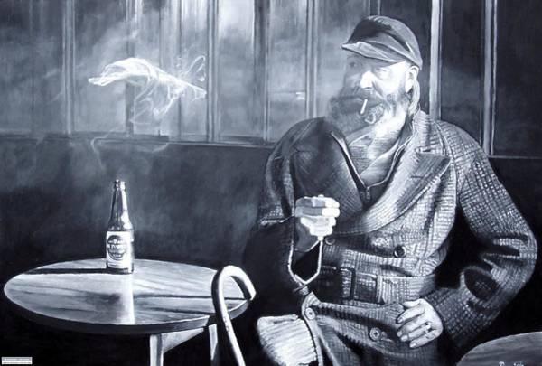 Seamen Photograph - Captain Birdseye, 2008 Oils by Kevin Parrish