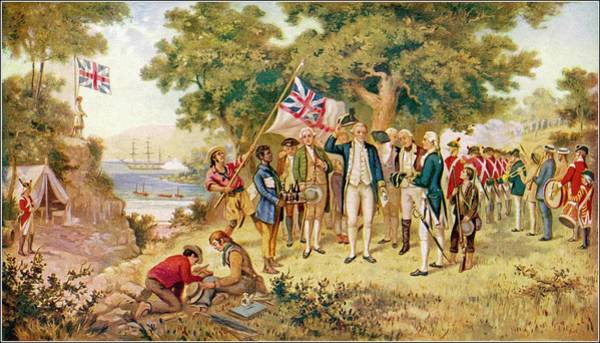New South Wales Drawing - Captain Cook Takes Formal Possession by Mary Evans Picture Library
