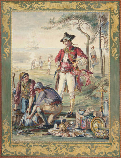 Buried Treasure Painting - Captain Kidd  Helen Maitland Armstrong by Paul Ashby Antique Paintings