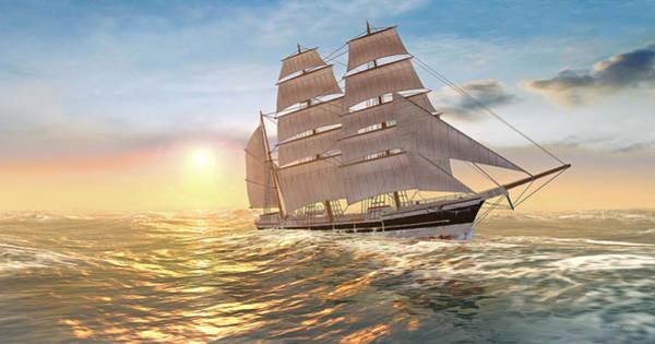Digital Art - Captain Larry Paine Clippership by Duane McCullough