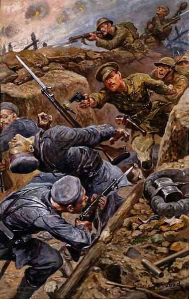 Shooting Painting - Captain Reginald James Young Winning by Stanley L. Wood