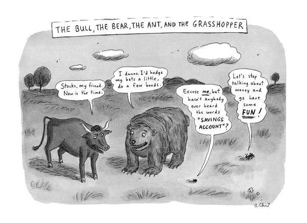 Saving Drawing - Captionless The Bull by Roz Chast